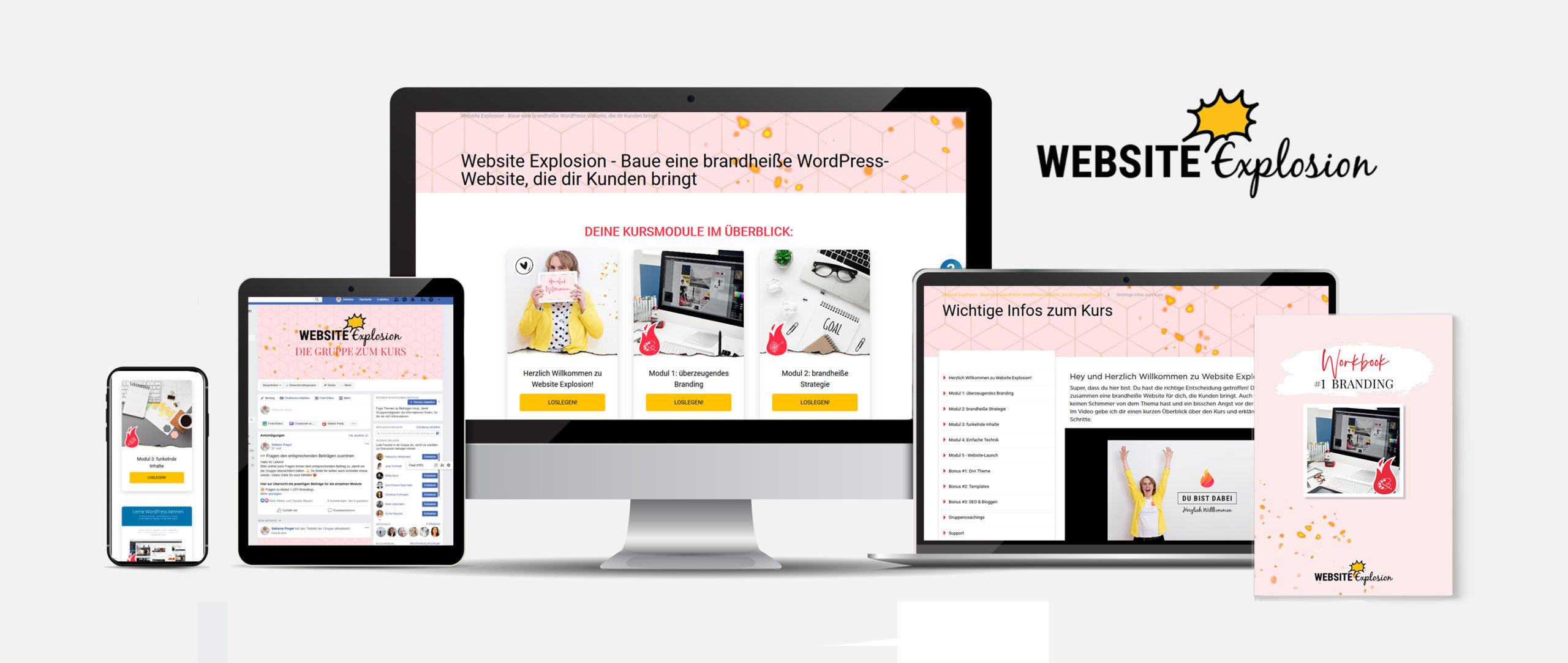 Website Explosion Onlinekurs