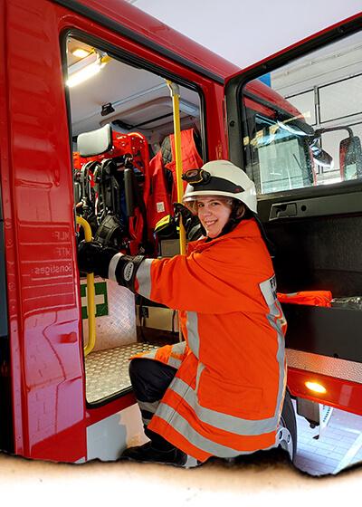 Feuerwehrfrau Steffi Pingel