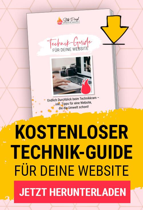 Freebie Technik-Guide für deine Website