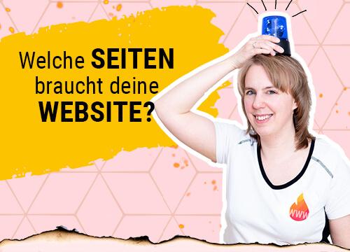 Welche Seiten braucht eine Website?