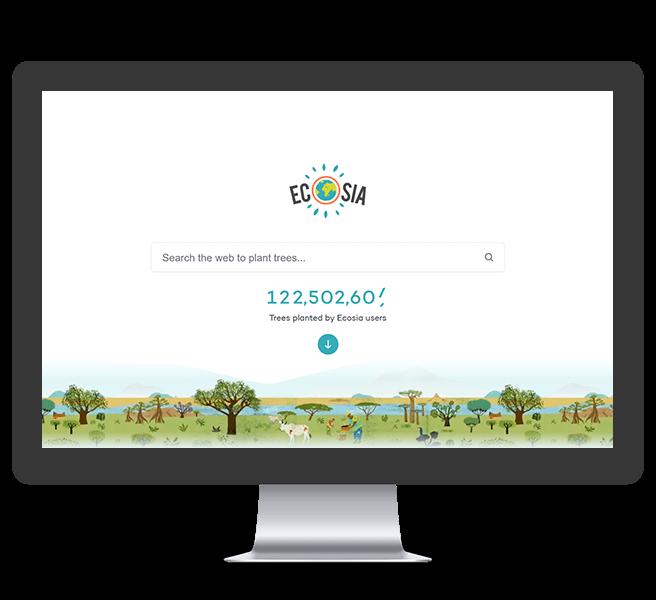 Grüne Suchmaschine Ecosia
