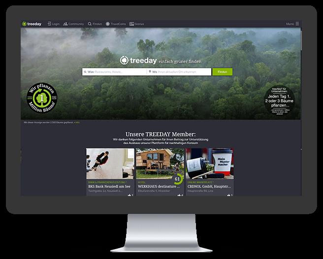 Grüne Suchmaschine Treeday
