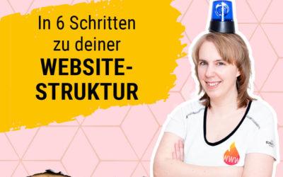 In 6 Schritten zu deiner Website-Struktur